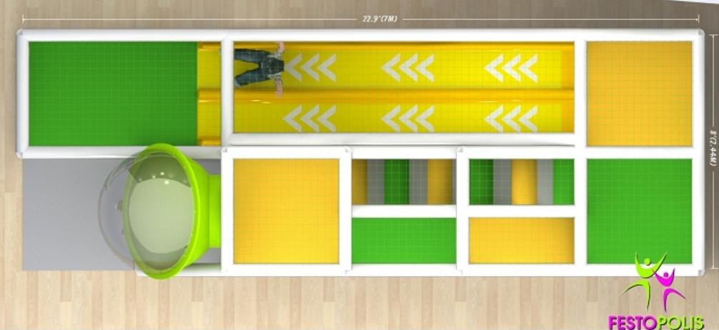 FEPI 038 playground da interno modello Caramelle SITO3