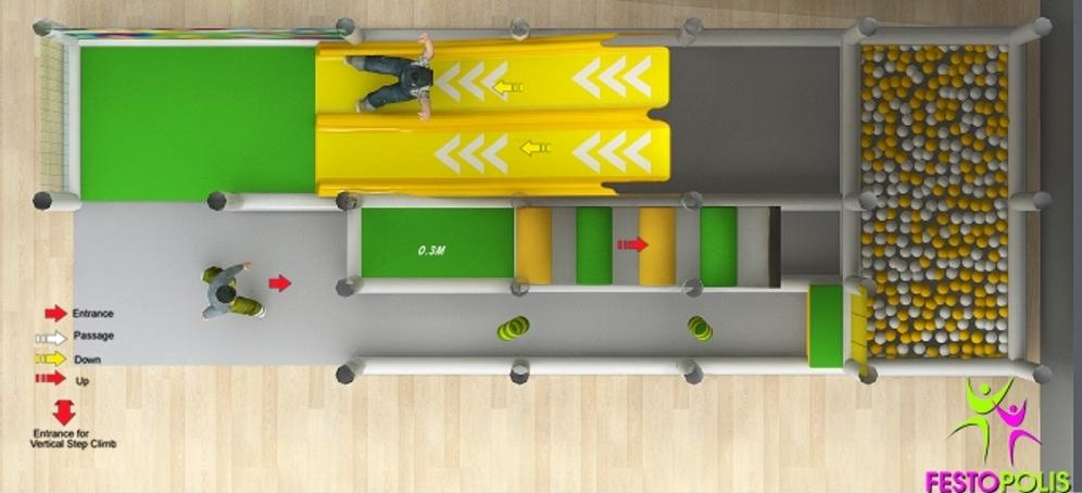 FEPI 038 playground da interno modello Caramelle SITO4